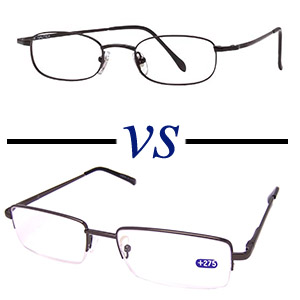 Rimless Glasses Disadvantages : Full Frame Glasses Vs Half Frame Glasses - Which is Better?