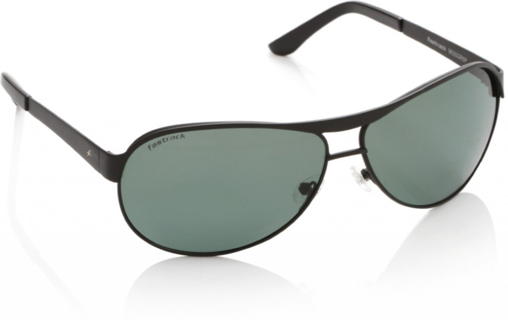 073028d891 Fastrack M035 Black Green Aviator GR5P Sunglasses