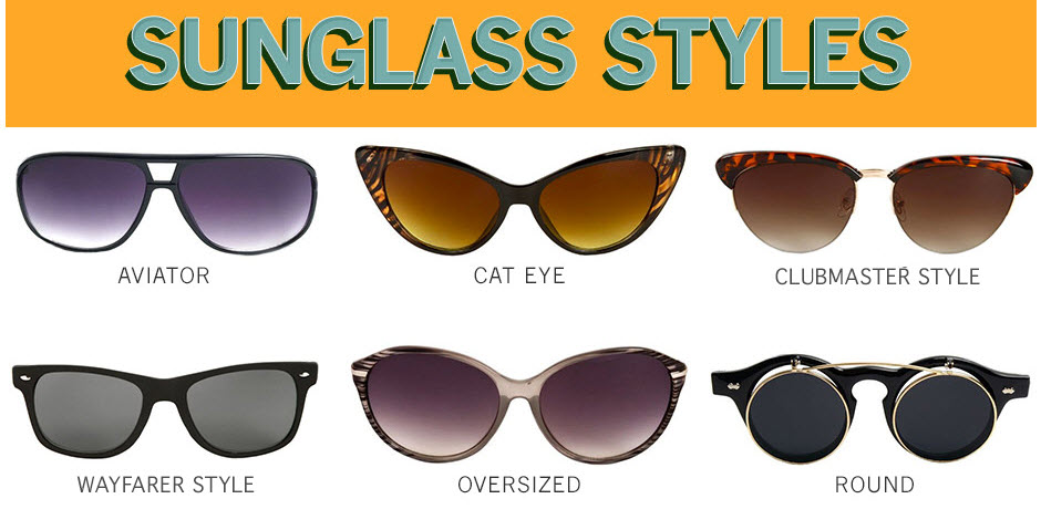 Glasses Frames Style Names : Different Types of Sunglasses for Women